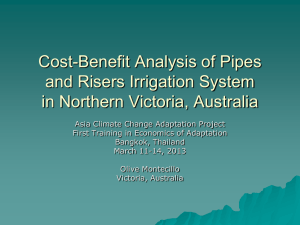 Cost-Benefit Analysis of Pipes and Risers Irrigation - UNDP-ALM