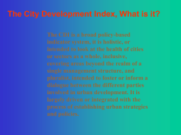 City Development Index