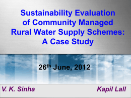 Sustainability evaluation of community managed