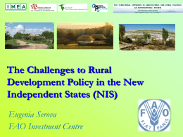 The Challenges to Rural Development Policy in the New