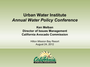 Ken Melban - Urban Water Institute, Inc.