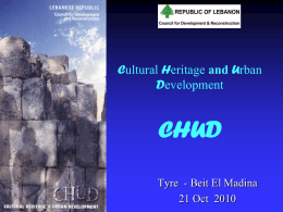 Republic of Lebanon Ministry of Culture – CDR