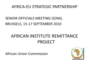 Presentation: African Institute Remittance Project - Africa