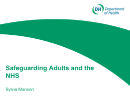 Safeguarding Adults and the NHS