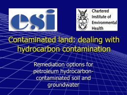contaminated soil and groundwater