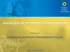 An Overview of Northern Territory Projects on the Horizon