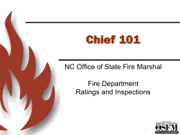 OSFM PPT Template 1 - North Carolina Department of Insurance
