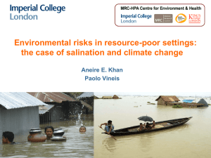 Environmental risks in resource-poor settings: the case of salination