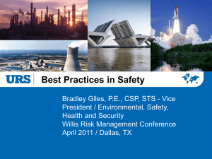 Brad Giles URS-Best Practices in Safety