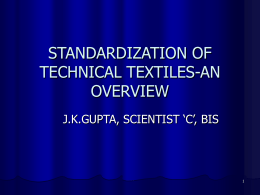 standardization of technical textiles