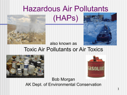 Hazardous Air Pollutants (Air Toxics)