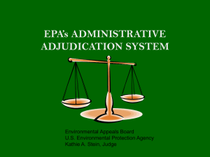 Organization of the Administrative Adjudication System