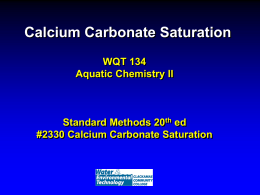 Calcium carbonate saturation lecture