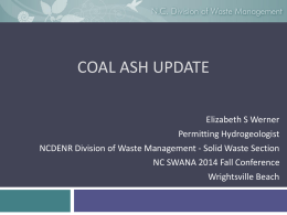 Coal Ash Update - Elizabeth Werner - nc