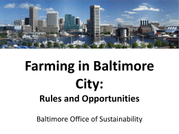 Farming in Baltimore City: Rules and Opportunities