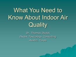 What you need to know about indoor air quality