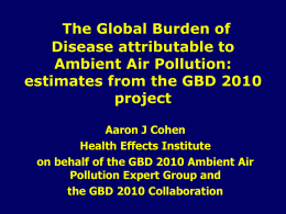 Global Burden of Disease Attributable to Ambient Air Pollution