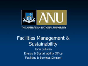 Facilities Management and Sustainability