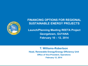 financing options for regional sustainable energy projects