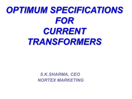 optimum specifications for current transformers