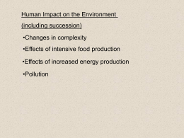 AHB 7,8,9,10 Environment human effect on