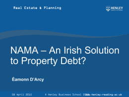 NAMA - ERES - European Real Estate Society