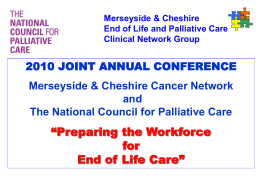 National Overview - Cheshire & Merseyside Strategic Clinical