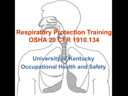 Respiratory Protection Training - Environmental Health And Safety