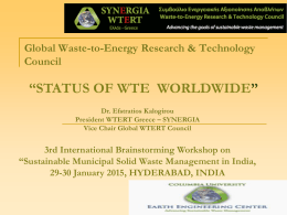 Photos of WTE Plants - Waste-to-Energy Research and Technology