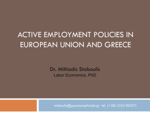Active employment policies in the EU and GR