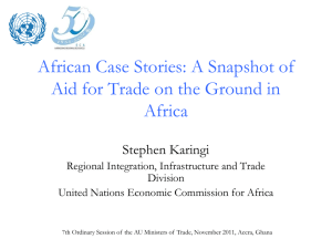 A Snapshot of Aid for Trade on the Ground in Africa