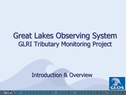 Project PowerPoint - Great Lakes Observing System
