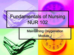 Fundamentals of Nursing NUR 102