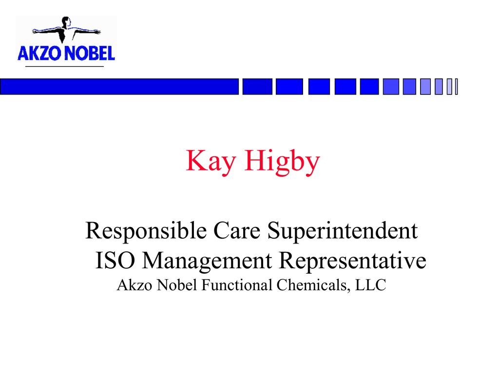 Akzo Nobel Functional Chemicals, LLC