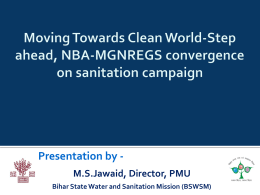 NBA-MGNREGA Convergence on sanitation campaign