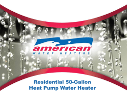 Customer Overview PPT - News from American Water Heaters