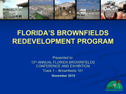 PPT - Florida Department of Environmental Protection