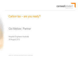 Carbon tax – are you ready? - Institute of Hospital Engineering