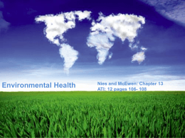 Nies and McEwen: Chapter 13: Environmental Health ATI: 12 pages