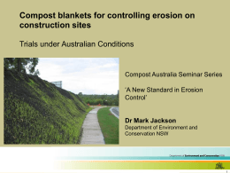 What are compost blankets?