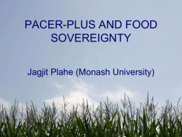 Fiji - PACER-plus and Food Sovereignty