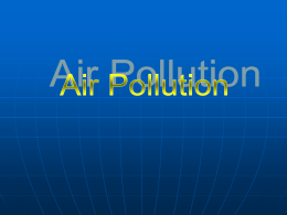 Air Pollution power point