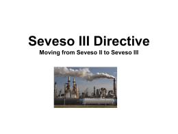 Presentation on the new Seveso III Directive