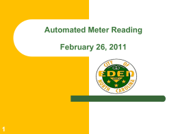 19 Automated Meter Reading - E