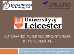 AMR Presentation - University of Leicester