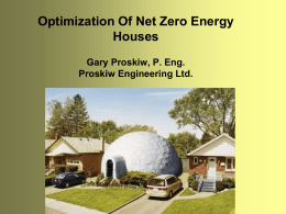 Optimization of Net Zero Energy Houses Presentation