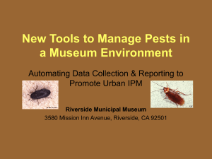 New Tools to Manage Urban Pests in a Museum