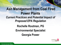 Routman-Ash Management from Coal Plants