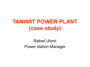 TANWAT POWER STATION (case study)