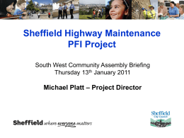 Sheffield Highway Maintenance PFI Project